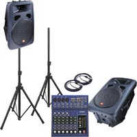 Small pa system hire speakers and mixer