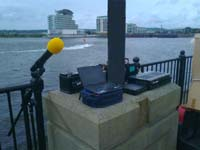 long range audio transmission at Cardiff Bay