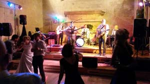 PA Hire sound system at a wedding band in St.Donats Castle