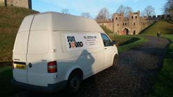 PA hire at a charity outdoor event in Cardiff Castle grounds