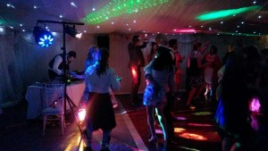 Party sound system with disco lighting effects and laser