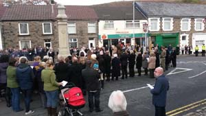 Outdoor public address system hire for Ynysybwl remembrance service