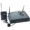 UHF wireless headset or lapel microphone hire