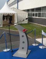 Public Address system hire with lectern at Port Talbot opening ceremony